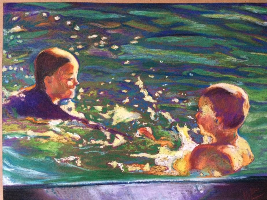 Water Babies - 16 x 12